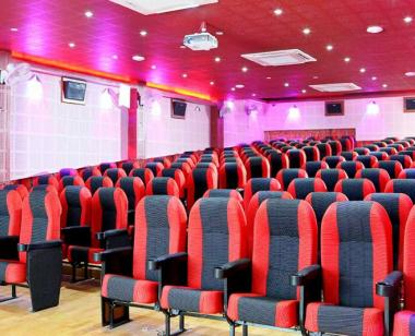 Fully Air Conditioned HD Miniplex Theatre with 150 executive seats for movie studies